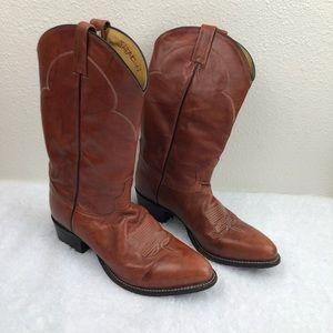 Tony Lama brown Cowboy boots, 11D